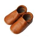 Bőr puhatalpú babacipő, Baba-mama-gyerek, Ruha, divat, cipő, Cipő, papucs, Varrás, Teljesen bőr babacipő, mely ideális a járni tanuló babáknak, vagy nagyobb gyermekeknek.  15-26-os m..., Meska