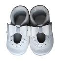 Bőr puhatalpú szandál - Nagy masnis - Fehér/Alkalmi, Baba-mama-gyerek, Ruha, divat, cipő, Cipő, papucs, Varrás, Teljesen bőr babacipő, mely ideális a járni tanuló babáknak, vagy nagyobb gyermekeknek.  15-26-os m..., Meska