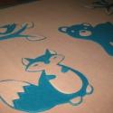 erdei állatos babatakaró - névre szólóan, Baba-mama-gyerek, Gyerekszoba, Falvédő, takaró, Varrás, Kisbabák részére, két natúr színű polár anyag felhasználásával készítettem ezt az erdei állatos bab..., Meska