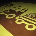traktoros takaró - névre szólóan, Baba-mama-gyerek, Gyerekszoba, Falvédő, takaró, Baba-mama kellék, Varrás, Kisfiú részére, két natúr színű, puha polár felhasználásával készítettem ezt a traktoros takarót, m..., Meska