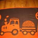 traktoros takaró - névre szólóan, Baba-mama-gyerek, Gyerekszoba, Falvédő, takaró, Baba-mama kellék, Varrás, Kisgyermekek részére, két színű puha polár anyag felhasználásával készítettem ezt a traktoros takar..., Meska