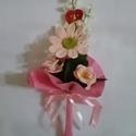 Örök emlék! Sosem hervad el!, Dekoráció, Ünnepi dekoráció, Horgolás, Virágkötés, Horgolt virágcsokor,egy gerbera és három tölcsérvirágot tartalmaz. A virágok bármilyen színben kérh..., Meska