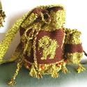 Elefántos horgolt táska, szütyő - őszi színekben, Táska, Válltáska, oldaltáska, Tarisznya, Elefántos horgolt táska, szütyő - őszi színekben, levehető kulcstartó bugyorral.  Magassága 21cm Alk..., Meska