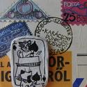 pingpongozó cicák (medálképeslap), Ékszer, óra, Mindenmás, Medál, Furcsaságok, Ékszerkészítés, Fotó, grafika, rajz, illusztráció, Levegőre száradó gyurmából készült vidám medál, pingpongozó cicákkal, akik benne vannak a pakliban...., Meska