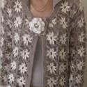 Horgolt tavaszi kiskabát, Ruha, divat, cipő, Női ruha, Felsőrész, póló, Kabát, Kézi horgolással, varrás nélkül készült ez a különleges kabátka, mely bármely évszakban hordható.  A..., Meska