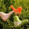 Textil madarak 3 db-os szett, Dekoráció, Otthon, lakberendezés, Húsvéti apróságok, Varrás, Textil madarak,kis lábakkal többféle színben.  Ára: 390 Ft/db  Kérhető más db számban, színben is., Meska