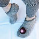 Lábmelengető boka mamusz, Baba-mama-gyerek, Ruha, divat, cipő, Cipő, papucs, Kötés, Lábat melegítő boka mamusz.  Puha, meleg, kellemes viselet.    Talpára filc van varrva,a csúszást m..., Meska