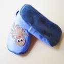 Puhatalpú bőrcipő, polipos nyári (16 cm készleten), Baba-mama-gyerek, Ruha, divat, cipő, Baba-mama kellék, Cipő, papucs, Bőrművesség, Varrás, Puhabőrből készült ez a cipőcske, felső részét kis polip díszítni.Az alapszín púderkék, a polip vil..., Meska
