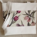Rita tulipános táska, Táska, Válltáska, oldaltáska, Varrás, Örök kedvenc a tulipán minden tavasszal és nyáron. Akár a kertben, akár ruhán, akár kiegészít?kön. ..., Meska