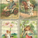 \&quot;Tndri lnykk\&quot; vintage matrica - decoupage papron s textilre vasalhat formban is krhet, Otthon, lakberendezs, Dekorci, Mindenms, Fot, grafika, rajz, illusztrci, Vintage stlust kpvisel matrick, ers ntapads rteggel- szinte brmilyen felletre alkalmazhat..., Meska