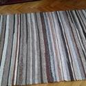 """Rongyszőnyeg barna színkavalkád, Otthon, lakberendezés, Lakástextil, Szőnyeg, Falvédő, Szövés, Rongyszőnyeg barna szinkavalkád  Saját készítésű anyagból készült szőnyeg, hagyományos régi """"parasz..., Meska"""