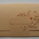 Vidd magaddal az esküvőre ........  (ajándékátadó kártyával - 20x10 cm-es)), Esküvő, Naptár, képeslap, album, Nászajándék, Meghívó, ültetőkártya, köszönőajándék, Papírművészet, (Nézz körül Milevi boltomban is.)  .....a menyasszony és vőlegény kedvenc színét (barackszín). Hely..., Meska