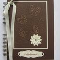 Esküvőtervező - vendégkönyv - lánybúcsúalbum - jókívánságkönyv - lepke dombormintával, Esküvő, Naptár, képeslap, album, Nászajándék, Jegyzetfüzet, napló, Papírművészet, (Nézz körül Milevi boltomban is.)  Az esküvőtervezőben folyamatosan feljegyezheted, és fényképekkel..., Meska