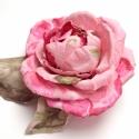 Benjamin Britten rózsa - bross, Ékszer, óra, Dekoráció, Bross, kitűző, Ékszerkészítés, Ez a rózsabrossom a csodálatos David Austin rózsák bűvöletében készült, selyem zsorzsettből. Talán ..., Meska