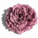 Álomvirág - bross, Ékszer, óra, Otthon, lakberendezés, Bross, kitűző, Ékszerkészítés, Mályva lila, gyűrt hatású taft anyagból készült ez a nagyméretű, dekoratív virág. Kérhető levéllel ..., Meska