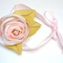 """Rózsa-szalag karra, nyakra -különleges rózsaékszer, Ékszer, óra, Esküvő, Esküvői csokor, Nyaklánc, Ékszerkészítés, """"Leszállt az alkony s egy gyenge szellő Tündér-rózsát hintett az égre, Fülembe suttogott egy bús me..., Meska"""