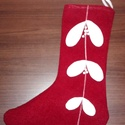 Piros Mikulás csizma, Dekoráció, Karácsonyi, adventi apróságok, Ünnepi dekoráció, Karácsonyi dekoráció, , Meska