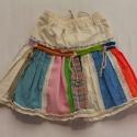 Kislány téglalapos szoknya, Ruha, divat, cipő, Gyerekruha, Gyerek (4-10 év), Varrás, Kizárólag természetes anyagból készült alternatív-népi stílusú színes kislány szoknya. Mindegyik eg..., Meska