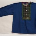 Fiú ing, Ruha, divat, cipő, Gyerekruha, Gyerek (4-10 év), Kamasz (10-14 év), Varrás, Kizárólag természetes anyagból készült alternatív-népi stílusú színes fiú ing. Mindegyik egyedi des..., Meska