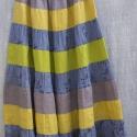 """""""Hangulat"""" szoknya, sárga-kék, Ruha, divat, cipő, Női ruha, Szoknya, Varrás, Különböző színű szoknyák lenvászonból, egyedileg díszítve. Nagyon tartós, alsó szoknyával télen is ..., Meska"""