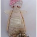 Art angel .... Különleges angyalbabuska ...., Baba-mama-gyerek, Otthon, lakberendezés, Képzőművészet , Karácsonyi, adventi apróságok, Baba-és bábkészítés, Hímzés, Nagyszerű és egyedi  ajándék lehetőség ! Ajánlom lakás  dekorációként is, romantikus lelkű nőciknek..., Meska