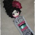 Sellőbaba Frida feelingben .... Mermaid doll, doll, Képzőművészet, Otthon, lakberendezés, Ruha, divat, cipő, Textil, Baba-és bábkészítés, Hímzés,  Sellőbaba Frida feelingben megálmodva és kivitelezve, különböző szerkezetű és mintázatú szövetek, ..., Meska