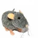 Szürke patkány - RENDELHETŐ, Dekoráció, Játék, Otthon, lakberendezés, Játékfigura, Mindenmás, Szürke kis patkány, a képen láthatóhoz hasonló rendelhető. Más pózban és más színben is! Feje, test..., Meska