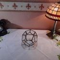 Dedokaéder, Florárium, terrárium 2, Otthon, lakberendezés, Kaspó, virágtartó, váza, korsó, cserép, Üvegművészet, Tiffany technikával készített florárium. 11 db ötszögletű üveglapból áll.  Egy ötszögletű lap nincs..., Meska