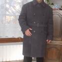 Férfi szövet téli kabát, az elegancia jegyében., Férfiaknak, Ruha, divat, cipő, Férfi ruha, Varrás, Mindenmás, A képen látható szürke szövet férfi télikabát minta. Ez a kényelmes kabát az elegancia jegyében kés..., Meska