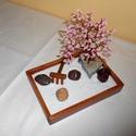 Asztali Zen kert 3, Dekoráció, Esküvő, Dísz, Nászajándék, Gyöngyfűzés, A békés percek mély átéléséhez kiválóan használható ez az asztali zen kert. Ajándéknak, dísznek is ..., Meska