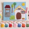 A farkas és a hét kecskegida- készségfejlesztő-kreatív ujjbáb készlet mini bábszínházzal, Baba-mama-gyerek, Játék, Báb, Készségfejlesztő játék, Mindenmás, Baba-és bábkészítés, Saját tervezésű ujjbábkészlet A farkas és a hét kecskegida c. meséhez.   A bábok (7kecskegida, anya ..., Meska