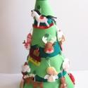 Díszíthető adventi karácsonyfa (24db dísszel+ csúcsdísz csillaggal) Rendelhető!, Baba-mama-gyerek, Dekoráció, Karácsonyi, adventi apróságok, Adventi naptár, Varrás, 65cm magas, díszíthető karácsonyfa Adventre, hogy még izgalmasabb legyen az ünnepi várakozás a gyer..., Meska
