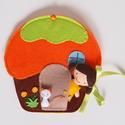 Lotti narancsos muffin házikója- játszókönyvecske, Baba-mama-gyerek, Játék, Készségfejlesztő játék, Plüssállat, rongyjáték, Mindenmás, Varrás, Ebben az édes kis narancsos muffin házikóban lakik Lotti, a cuki sütibaba és aprócska cicája, Lina...., Meska
