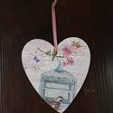 szív alakú kalitkás dísz, Otthon, lakberendezés, , Meska