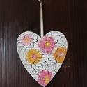 szív alakú színes virágos dísz, Otthon, lakberendezés, , Meska