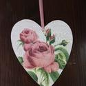 szív alakú rózsás dísz, Otthon, lakberendezés, , Meska