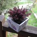 levendulás (virág)tartó, Otthon, lakberendezés, Kaspó, virágtartó, váza, korsó, cserép, , Meska