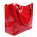Fényes női táska, akár karácsonyi ajándéknak is, Ruha, divat, cipő, Táska, Válltáska, oldaltáska, Mindenmás, Magasfényű táska, cipzárral záródik. Poliészter bélése van 3 zsebbel, melyek közül egy cipzáras. A ..., Meska