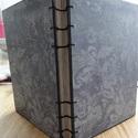 Vintage kopt napló vagy esküvői vendégkönyv , Képeslap, album, füzet, Jegyzetfüzet, napló, naptár, Papírművészet, Különleges varrási technikával készítettem ezt a nagyméretű vintage kopt naplót.   Keményfedeles bo..., Meska