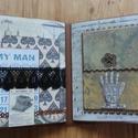 """"""" Köszönöm, hogy vagy nekem"""" - nagyméretű steampunk scrapbook fotóalbum férfiaknak, Férfiaknak, Naptár, képeslap, album, Steampunk ajándékok, Fotóalbum, Papírművészet, Egyik nagyon kedves vásárlóm kérésére gyönyörű scrapbook fotóalbumot készítettem. Az album a népsze..., Meska"""