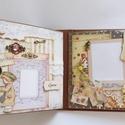 """Egyedi, kézműves születésnapi és élettörténeti scrapbook album, Naptár, képeslap, album, Fotóalbum, Jegyzetfüzet, napló, Papírművészet, Nagyon, egyedi scrapbook albumot készítettem, melynek mind a 10 oldala rejt egy scrapbook """"layout""""-..., Meska"""