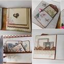 """Vintage esküvő 2. - egyedi, kézműves vintage esküvői fotóalbum, Esküvő, Naptár, képeslap, album, Nászajándék, Fotóalbum, Papírművészet, Elkészítettem a """"Mon amour"""" fotóalbumom vintage változatának a változatát, mely legalább olyan gyön..., Meska"""