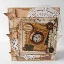 Egyedi, kézműves vintage születésnapi képeslap férfiaknak, Férfiaknak, Naptár, képeslap, album, Steampunk ajándékok, Ajándékkísérő, Papírművészet, Nagyon egyedi képeslapot készítettem, melyben az ünnephez métóan nyújthatos át születésnapi jókíván..., Meska