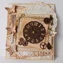 """""""Megáll az idő"""" - egyedi, kézműves vintage képeslap férfiaknak, Férfiaknak, Naptár, képeslap, album, Steampunk ajándékok, Képeslap, levélpapír, Papírművészet, Gyönyörű, egyedi, kézműves vintage stílusú képeslapot készítek, melyben átnyújthatod jókívánságaida..., Meska"""