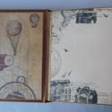 Journey of a lifetime - egyedi, kézműves scrapbook album, Naptár, képeslap, album, Férfiaknak, Fotóalbum, Steampunk ajándékok, Papírművészet, Az utazás szerelmeseinek készítem ezt az albumot, melynek felépítése a hagyományos albumokhoz áll k..., Meska