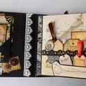 """""""My dear love..."""" - egyedi, kézműves romantikus- vintage steampunk-love scrapbook fotóalbum, Naptár, képeslap, album, Férfiaknak, Fotóalbum, Steampunk ajándékok, Papírművészet, Őrizd meg életed legszebb érzésének minden egyes pillanatát ebben a nagyon egyedi, gyönyörű scrapbo..., Meska"""