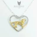 Golden retriever ezüst medál nyaklánccal, Ékszer, óra, Állatfelszerelések, Nyaklánc, Medál, Ékszerkészítés, Ötvös, Golden retriever kutya szerelmeseinek, ez az ékszer egy kötelező darab! Öltözz kutyusodhoz, és indu..., Meska