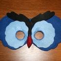 Bagoly  álarc filcből Kék fekete színekben, Ruha, divat, cipő, Játék, Játékfigura, Varrás, Bagoly alakú álarc két réteg filcből varrtam. A szabásmintát is magam készítettem hozzá.  Mérete: K..., Meska