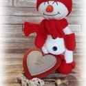 Cidri a hóember, Játék, Baba játék, Báb, Játékfigura, Baba-és bábkészítés, Horgolás, Cidri a kis hóember téged vár siess...mindjárt vége a télnek! :) A baba 23 cm magas, 100% pamutfona..., Meska