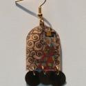 Klimt: 'Tree of life' részlet, Ékszer, óra, Esküvő, Ruha, divat, cipő, Fülbevaló, , Meska